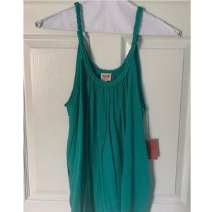 NWT Mossimo Supply Co Braided Jade Teal Tank Top L